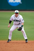 Dartmouth Big Green second baseman Sean Sullivan (4) during a game against the South Florida Bulls on March 27, 2016 at USF Baseball Stadium in Tampa, Florida.  South Florida defeated Dartmouth 4-0.  (Mike Janes/Four Seam Images)