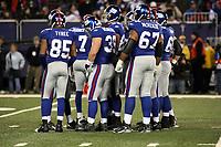 Teambesprechung New York Giants<br /> New York Giants vs. New England Patriots<br /> *** Local Caption *** Foto ist honorarpflichtig! zzgl. gesetzl. MwSt. Auf Anfrage in hoeherer Qualitaet/Aufloesung. Belegexemplar an: Marc Schueler, Am Ziegelfalltor 4, 64625 Bensheim, Tel. +49 (0) 6251 86 96 134, www.gameday-mediaservices.de. Email: marc.schueler@gameday-mediaservices.de, Bankverbindung: Volksbank Bergstrasse, Kto.: 151297, BLZ: 50960101