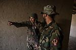 An instructor talk with his students during an exercice that consist on an ambush on the ennemies, Kabul, Afghanistan, 4th November 2017.<br /> <br /> Un instructeur parle à un des ses étudiants lors d'un exercice qui consiste à une ambuscade de l'ennemi, Kaboul, Afghanistan, le 4 novembre 2017.