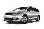 Stock pictures of low aggressive front three quarter view of 2017 Chrysler Pacifica Touring-L-Plus 5 Door Minivan Low Aggressive