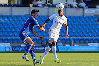 Myles Weston of Wycombe Wanderers during the Friendly match between Wycombe Wanderers and Brentford at Adams Park, High Wycombe, England on 19 July 2016. Photo by David Horn PRiME Media Images.