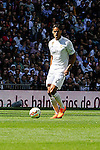 Real Madrid´s Raphael Varane during 2014-15 La Liga match between Real Madrid and Eibar at Santiago Bernabeu stadium in Madrid, Spain. April 11, 2015. (ALTERPHOTOS/Luis Fernandez)