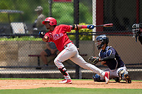 Philadelphia Phillies Wilson Valdez (38) bats during an Extended Spring Training game against the New York Yankees on June 22, 2021 at the Carpenter Complex in Clearwater, Florida. (Mike Janes/Four Seam Images)