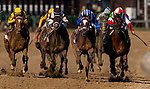 APRIL 30, 2021:  Malathaat with John Velazquez defeats Search Results and Irad Ortiz Jr. after thrilling stretch battle in the Kentucky Oaks at Churchill Downs in Louisville, Kentucky on April 30, 2021. EversEclipse Sportswire/CSM