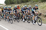 Action from Stage 1 of the Vuelta a Burgos 2020, 42nd Edition, featuring Lukas Postlberger (AUT), Rafal Majka (POL), Felix Grossschartner (AUT), Matteo Fabbro (ITA) and Martin Laas (EST) Bora-Hansgrohe, running 157km from the Catedral de Burgos to Mirador del Castillo Burgos, Spain. 28th July 2020. <br /> Picture: Bora-Hansgrohe/Luis Angel Gomez/BettiniPhoto | Cyclefile<br /> <br /> All photos usage must carry mandatory copyright credit (© Cyclefile | Bora-Hansgrohe/Luis Angel Gomez/BettiniPhoto)
