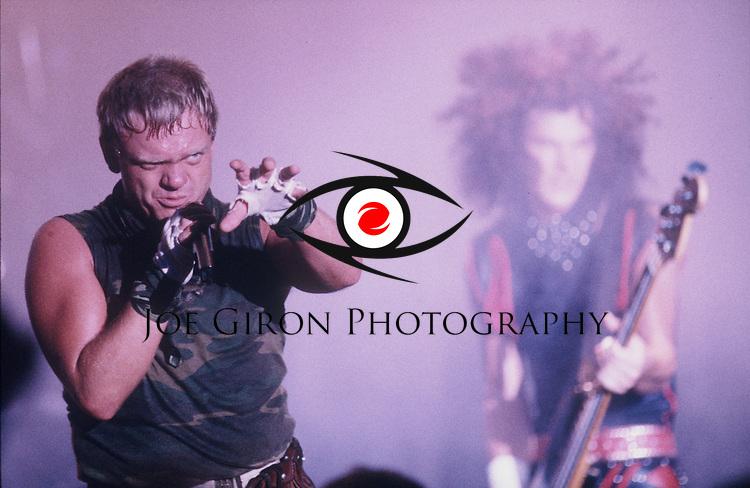 Accept vocalist, Udo Dirkschneider performs during a show.