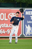West Michigan Whitecaps outfielder Austin Schotts (5) catches a fly ball during a game against the Cedar Rapids Kernels on June 7, 2015 at Fifth Third Ballpark in Comstock Park, Michigan.  West Michigan defeated Cedar Rapids 6-2.  (Mike Janes/Four Seam Images)