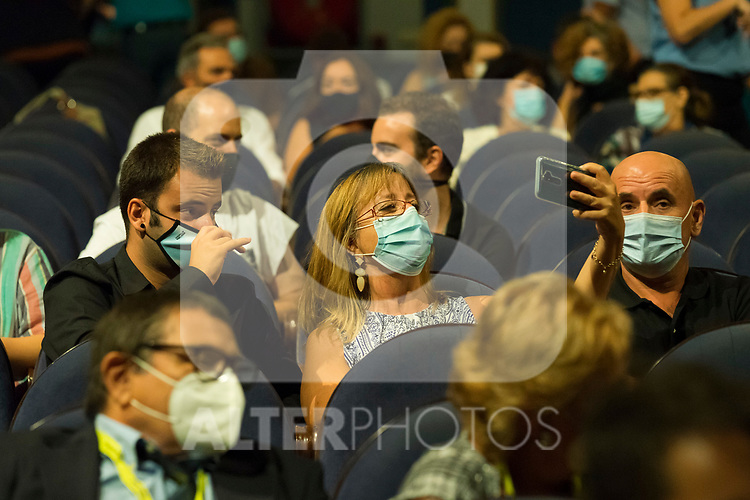 Public wearing facemask because of COVID19 during Malaga Film Festival Gala at Teatro Cervantes.August 23 2020. (Alterphotos/Francis González)