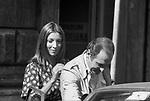 RENZO ARBORE CON MARIANGELA MELATO<br /> ROMA 1975
