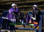 November 3, 2020: Chad Brown stable riders at Keeneland Racetrack in Lexington, Kentucky on November 3, 2020. Alex Evers/Eclipse Sportswire/Breeders Cup