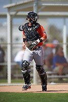 Baltimore Orioles Chance Sisco (12) during a minor league Spring Training game against the Minnesota Twins on March 16, 2016 at CenturyLink Sports Complex in Fort Myers, Florida.  (Mike Janes/Four Seam Images)