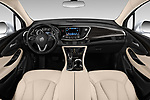 Stock photo of straight dashboard view of a 2020 Buick Envision Preferred FWD 5 Door SUV