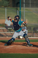 AZL Mariners catcher Anthony Lepre (3) during an Arizona League game against the AZL Giants Orange on July 18, 2019 at the Giants Baseball Complex in Scottsdale, Arizona. The AZL Giants Orange defeated the AZL Mariners 7-4. (Zachary Lucy/Four Seam Images)