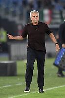 Jose Mourinho coach of AS Roma during the Serie A football match between AS Roma and US Sassuolo at Olimpico stadium in Rome (Italy), September 12th, 2021. Photo Antonietta Baldassarre / Insidefoto