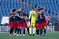 FOXBOROUGH, MA - JUNE 26: New Englans starting eleven during a game between North Texas SC and New England Revolution II at Gillette Stadium on June 26, 2021 in Foxborough, Massachusetts.