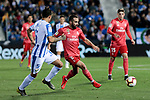 CD Leganes's Jonathan Cristian Silva and Real Madrid's Dani Carvajal during La Liga match between CD Leganes and Real Madrid at Butarque Stadium in Leganes, Spain. April 15, 2019. (ALTERPHOTOS/A. Perez Meca)
