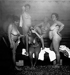 All of the photographs in The Bathers gallery were made in Budapest, Hungary, between 2000 and 2006, except for images 1, 4, and 6, which were made in Istanbul, Turkey, from 2001 to 2003; and 20, which was made in Baden-Baden, Germany, in 2004.