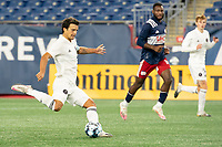FOXBOROUGH, MA - OCTOBER 09: Servando Carrasco #5 of Fort Lauderdale CF during a game between Fort Lauderdale CF and New England Revolution II at Gillette Stadium on October 09, 2020 in Foxborough, Massachusetts.