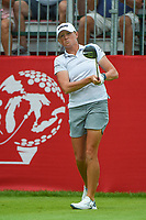 16th July 2021, Midland, MI, USA;  Stacy Lewis (USA) during the Dow Great Lakes Bay Invitational Rd3 at Midland Country Club on July 16, 2021 in Midland, Michigan. watches her tee shot on 1