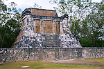 The Mayan ruins of Chichen Itza contains many fine stone buildings in various states of preservation; the buildings were formerly used as temples, palaces, stages, markets, baths, and ballcourts.