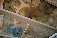Saint Petersburg, Russia, August 2002..Russia's northern capital is undergoing major renovation and reconstruction in advance of its' 300th anniversary in 2003 - repairing the interiors of the Catherine Palace at Pushkin...