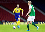 St Johnstone v Hibs…23.01.21   Hampden     BetFred Cup Semi-Final<br />Shaun Rooney takes on Josh Doig<br />Picture by Graeme Hart.<br />Copyright Perthshire Picture Agency<br />Tel: 01738 623350  Mobile: 07990 594431