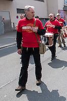"""Ca. 1000 Nazis aus ganz Deutschland marschierten am Sonntag den 1. Mai 2016 im Saeschsichen Plauen auf. Die Naziorganisation 3.Weg hatte den Marsch angemeldet. Etliche Nazis waren dabei vermummt und zeigten auch den Hitlergruss, die Polizei schritt jedoch nicht ein.<br /> Nach der Haelfte der Marschroute beendeten die Nazis ihre Demonstration, da die Polizei die Marschroute verkuerzen wollte. Sie forderten die Polizei auf den Weg freizugeben. Danach griffen Aufmarschteilnehmer die Polizei an, die daraufhin Wasserwerfer, Pfefferspray, Traenengas und Schlagstoecke einsetzte. Mehrere Gruppen Nazis zogen danach durch Plauen und jagten Menschen.<br /> Nach einer Stunde bekamen die Nazis einen erneuten Aufmarsch von der Polizei genehmigt und zogen zurueck zum Bahnhof.<br /> Im Bild: Klaus Armstroff, Gruender und Vorsitzender der Partei """"3. Weg"""".<br /> 1.5.2016, Plauen<br /> Copyright: Christian-Ditsch.de<br /> [Inhaltsveraendernde Manipulation des Fotos nur nach ausdruecklicher Genehmigung des Fotografen. Vereinbarungen ueber Abtretung von Persoenlichkeitsrechten/Model Release der abgebildeten Person/Personen liegen nicht vor. NO MODEL RELEASE! Nur fuer Redaktionelle Zwecke. Don't publish without copyright Christian-Ditsch.de, Veroeffentlichung nur mit Fotografennennung, sowie gegen Honorar, MwSt. und Beleg. Konto: I N G - D i B a, IBAN DE58500105175400192269, BIC INGDDEFFXXX, Kontakt: post@christian-ditsch.de<br /> Bei der Bearbeitung der Dateiinformationen darf die Urheberkennzeichnung in den EXIF- und  IPTC-Daten nicht entfernt werden, diese sind in digitalen Medien nach §95c UrhG rechtlich geschuetzt. Der Urhebervermerk wird gemaess §13 UrhG verlangt.]"""