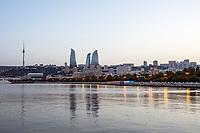 3rd June 2021; Baku, Azerbaijan;  Baku city view during the Formula 1 Azerbaijan Grand Prix 2021 at the Baku City Circuit, in Baku, Azerbaijan