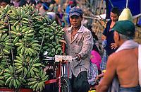 Market in Yangon in 1996, Myanmar Burma