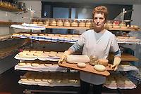 - holiday farm Cascina Raflazz in Paroldo (Cuneo), processing of Toma typical cheese, aging<br /> <br /> - agriturismo Cascina Raflazz a Paroldo (Cuneo), lavorazione del formaggio tipico Toma, stagionatura
