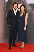 "Jamie Dornan and Amelia Warner<br /> arriving for the London Film Festival screening of ""A Private War"" at the Cineworld Leicester Square, London<br /> <br /> ©Ash Knotek  D3451  20/10/2018"