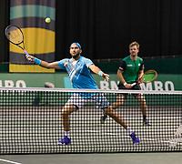 Rotterdam, The Netherlands, 2 march  2021, ABNAMRO World Tennis Tournament, Ahoy, First round doubles: Kevin Krawietz (GER) / Horia Tecau (ROU).<br /> Photo: www.tennisimages.com/henkkoster
