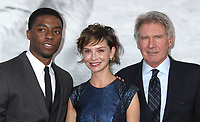 """09 April 2013 - Hollywood, California - Chadwick Boseman, Calista Flockhart, Harrison Ford. """"42"""" Los Angeles Premiere held at the TCL Chinese Theatre. Photo Credit: Russ Elliot/AdMedia"""
