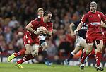 Wales centre Jamie Roberts makes abreak.<br /> RBS 6 Nations 2014<br /> Wales v Scotland<br /> Millennium Stadium<br /> <br /> 15.03.14<br /> <br /> ©Steve Pope-SPORTINGWALES