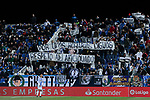 CD Leganes's fans protest against the schedule of the matches during La Liga match between CD Leganes and Levante UD at Butarque Stadium in Leganes, Spain. March 04, 2019. (ALTERPHOTOS/A. Perez Meca)