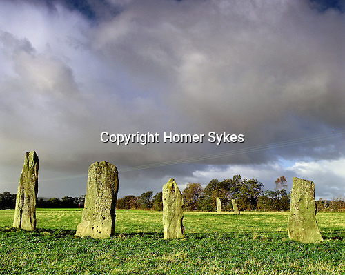 Ballymeanoch Standing Stones, Nr Kilmartin, Argyll and Bute, Strathclyde, Scotland. Celtic Britain published by Orion. Situted towards the Valley of the Dead are parallel lines of huge standing stones. several are heavily cup and ring marked.