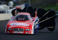 Jul, 21, 2012; Morrison, CO, USA: NHRA funny car driver Johnny Gray during qualifying for the Mile High Nationals at Bandimere Speedway. Mandatory Credit: Mark J. Rebilas-US PRESSWIRE
