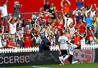 WASHINGTON, DC - June 02 2013: USA MNT v Germany MNT in the US Soccer Centennial match at RFK Stadium, in Washington DC.Jozy Aldidore (17) celebrates his goal.  USA won 4-3.