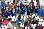 GER - Mannheim, Germany, March 19: During the 1. Bundesliga Herren hockey match between Mannheimer HC (blue) and Uhlenhorst Muehlheim (white) on March 19, 2016 at Mannheimer HC in Mannheim, Germany. Final score 1-1 (HT 0-0). (Photo by Dirk Markgraf / www.265-images.com) *** Local caption ***