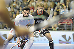Berlin, Germany, February 10: During the FIH Indoor Hockey World Cup semi-final match between Germany (black) and Iran (white) on February 10, 2018 at Max-Schmeling-Halle in Berlin, Germany. Final score 6-2. (Photo by Dirk Markgraf / www.265-images.com) *** Local caption *** Alexander OTTE #9 of Germany