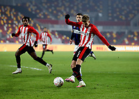 9th January 2021; Brentford Community Stadium, London, England; English FA Cup Football, Brentford FC versus Middlesbrough; Marcus Forss of Brentford taking a shot on goal