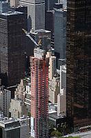 aerial photograph high rise construction upper east side, Manhattan, New York City