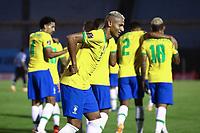 17th November 2020; Centenario Stadium, Montevideo, Uruguay; Fifa World Cup 2022 Qualifying football; Uruguay versus Brazil; Richarlison  of Brazil celebrates his goal in the 45th minute for 0-2