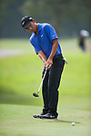 Cheng-tsung Pan of Taiwan putts the ball during Hong Kong Open golf tournament at the Fanling golf course on 25 October 2015 in Hong Kong, China. Photo by Xaume Olleros / Power Sport Images