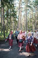 Estland, Insel Naissaar, Choere, Nargen Gesangs-Festival, <br /> <br /> Engl.: Europe, the Baltic, Estonia, Naissaar island, first Naissaar Song Celebration, song festival, culture, choirs, 28 June 2014<br /> <br />     Sieben herausragende Accapella-Choere aus Estland singen Lieder mit Bezug auf das Meer und geben auch schon einen kleinen Vorgeschmack auf das Repertoire des grossen Saengerfeste in Tallinn.