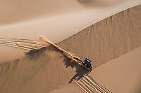 6th January 2021; Wadi Al Dawasir to Riyadh, Saudia Arabia; Dakar 2021 Rally, stage 4;  #06 Caimi Franco (arg), Yamaha, Monster Energy Yamaha Rally Team, Moto, Bike, action during the 4th stage of the Dakar 2021 between Wadi Al Dawasir and Riyadh, in Saudi Arabia on January 6, 2021