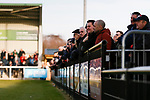 Darlington fans. Darlington 1883 v Southport, National League North, 16th February 2019. The reborn Darlington 1883 share a ground with the town's Rugby Union club. <br />