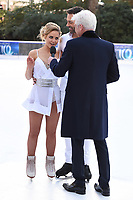 """Stephanie Waring and Sylvain Longchambon with Phillips Schofield<br /> at the """"Dancing on Ice"""" launch photocall, natural History Museum, London<br /> <br /> <br /> ©Ash Knotek  D3365  19/12/2017"""