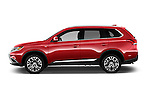 Car Driver side profile view of a 2017 Mitsubishi Outlander GT 5 Door SUV Side View