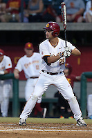 David Openheim (29) of the Southern California Trojans bats during a game against the Washington State Cougars at Dedeaux Field on March 13, 2015 in Los Angeles, California. Southern California defeated Washington State, 10-3. (Larry Goren/Four Seam Images)
